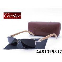 CARTIER WOOD EYEGLASSES W0083 - Cartier Half-Rim Glasses