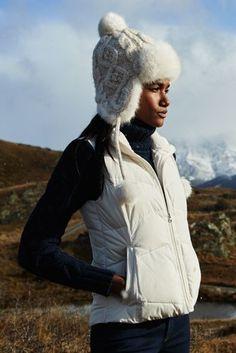 Women's Down Vest Lands' End Size XL White or Black