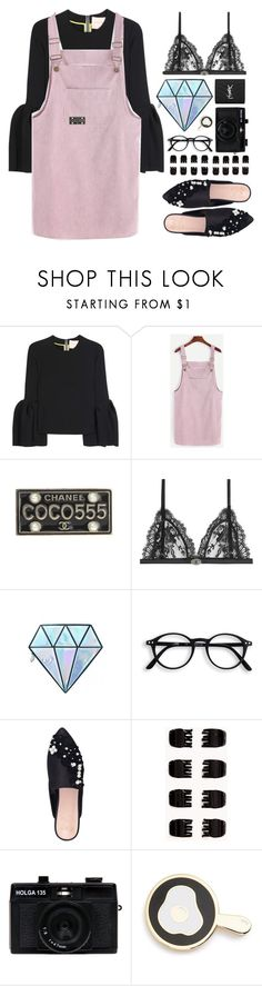 """Give me a reason"" by brynhawbaker ❤ liked on Polyvore featuring Roksanda, Chanel, Alexander McQueen, Unicorn Lashes, KG Kurt Geiger, Forever 21, Holga, Big Bud Press and Yves Saint Laurent"