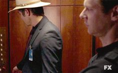 #Justified's #Tim_Gutterson and his forearms. And #Raylan_Givens. #Tim Gutterson