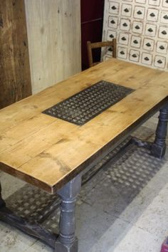 Banquet Table with Grid | JUST JONES INTERIORS