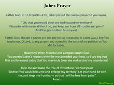 Jabez Prayer Simple Prayers, 1 Chronicles, Holy Ghost, Christianity, Blessed, Spirituality, God, Sayings, Holy Spirit