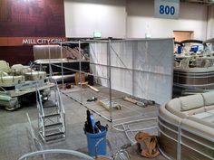 The makings of an epic trade show display tower.