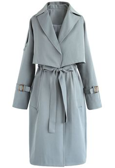 Novel Look Twinset Coat in Teal - New Arrivals - Retro, Indie and Unique Fashion Stylish Winter Outfits, Stylish Clothes For Women, Coats For Women, Casual Outfits, Iranian Women Fashion, Korean Fashion, Hijab Fashion, Fashion Dresses, Fashion Fashion