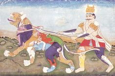Composite man and tiger, late Mughal, Shah Alam period, late 18th cent.