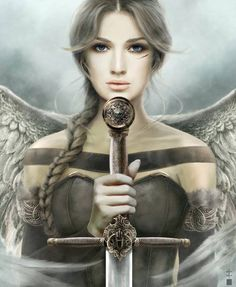 **FROM MY BOARD: ANGEL ART*** Angel Fantasy Myth Mythical Legend Wings Warrior Valkyrie Anjos Goth Gothic More