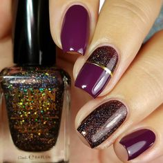 Burgundy Glitter Nails Easy elegant and classy winter nails to celebrate Christmas and winter in general! : Burgundy Glitter Nails Easy elegant and classy winter nails to celebrate Christmas and winter in general! Winter Nail Designs, Winter Nail Art, Best Nail Art Designs, Acrylic Nail Designs, Winter Nails, Acrylic Nails, Cute Nails, Pretty Nails, My Nails