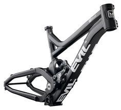 Revolt Downhill MTB frame by Evil Downhill Bike, Mtb Bike, Cycling Bikes, Mountain Bike Frames, Mountain Biking, Eletric Bike, Moutain Bike, Diy Go Kart, Used Bikes