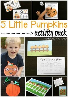 Awesome 5 Little Pumpkins Activity Packet. Math games, ABC activities, little reader books... lots and lots of fun 5 little pumpkin activities!
