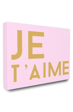 LulusimonSTUDIO 'Je t'aime' Canvas Wall Art available at #Nordstrom