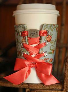 Corset coffee sleeve.