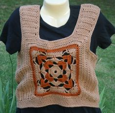 style - the ones Mom made were much cooler 70's Style, Crochet Tank, 70s Fashion, Mom, Tank Tops, Handmade, 70s Style, Halter Tops, Hand Made