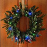 """Lighted Christmas Wreath 26"""" Battery Operated LED Multi/clr - affiliate link"""