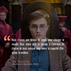 Voici 18 citations qui prouvent que Harry Potter et JK Rowling peuvent vraiment … Here are 18 quotes that prove that Harry Potter and JK Rowling can really be inspiring! Harry Potter Texte, Citation Harry Potter, Harry Potter Francais, Saga Harry Potter, Harry Potter Decor, Harry Potter Anime, Harry Potter Quotes, Harry Potter World, Harry Potter Humour