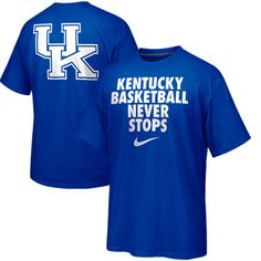 Nike Kentucky Wildcats Basketball Never Stops T-Shirt - Royal Blue