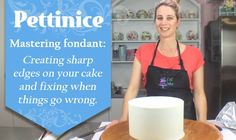 Fondant 101: Sharp edges on your cake.  How to fix cracking or tearing that may happen. on Vimeo