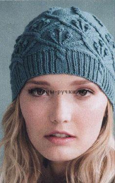 Бесшовная шапка вязаная спицами (Seamless Cap)
