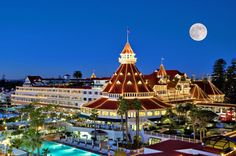 The Hotel Del Coronado in San Diego, CA.  I live in this town and I would love to stay the Del for a night or two.