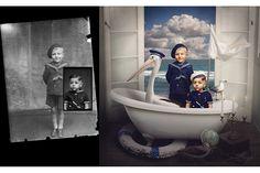 Jane dá cor e vida a fotos a preto e branco | P3 Ideia genial... estão maravilhosas... ;-)