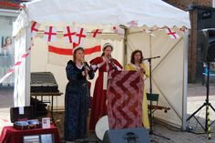 Lumina sang and played period music.