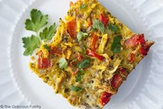 Clean Eating Springtime Breakfast Casserole from The Gracious Pantry