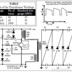 HV Ignition Coil Driver using 555 schematic Circuit