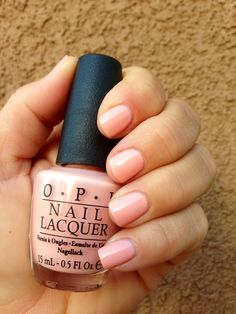 Opi Hopelessly In Love A Light Peach Pink Color