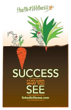 Success Poster For LinkedIn Health And Wellness Program Design Was Illustrated By Mike Sayenko