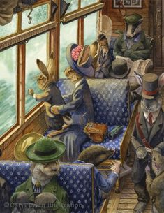 """crow-on-a-journey: """" His First Train Ride Chris Dunn Illustration and Fine Art (Thanks jvmdesign) """""""
