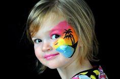 luau face paint