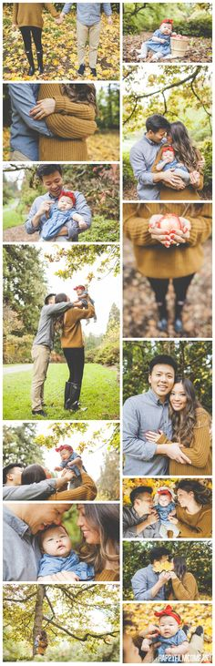 Happy Family Photography - Seattle Family Photographers - Seattle Family Photos - Autumn Holiday Family PIctures - Orange Sweater - Apple Picking - Cute Family Portraits in Fall - Playing in the Leaves -Washington Park Arboretum PHOTOGRAPHY BY: the Happy Film Company
