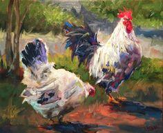"Daily Paintworks - ""Southwest chicken"" - Original Fine Art for Sale - © Jenny Buckner"