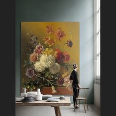 Muurmeesters - Van Os Georgius - Stilleven House Rooms, Interior Inspiration, Bunt, Painting & Drawing, Wall Murals, Home And Family, Sweet Home, House Design, Living Room
