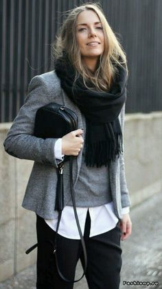 Take a look at the best cheap business casual clothes for women in the photos below and get ideas for your work outfits! Stylish Eve Outfits Casual Summer Tops for Women dress, cardigan and tights. I love this look! Mode Outfits, Casual Outfits, Fashion Outfits, Womens Fashion, Fashion Trends, Outfits 2016, Fashion Ideas, Blazer Fashion, Office Outfits