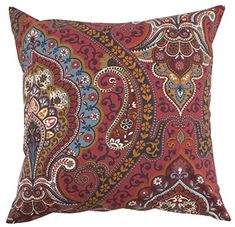 "Tangier Red Boho Floral Pillow Cover - 20"" - 1 piece Split P https://www.amazon.com/dp/B078DFKSBM/ref=cm_sw_r_pi_dp_U_x_TbrSAbTE5MZ08"