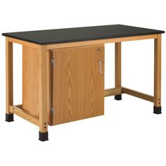 Add-A-Cabinet Table with Single Door Cabinet at SCHOOLSin
