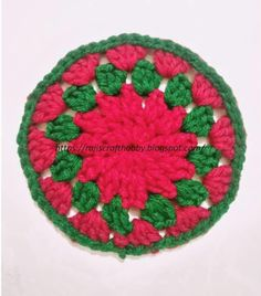 Need a quick and cute solution of a gift for this Christmas eve? Work up these easy Christmas Themed Crochet Coasters in no time.