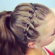 Waterfall Headband into a ponytail.