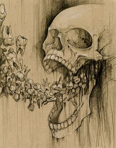Image result for weird skull art