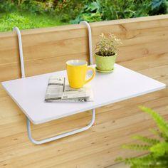 Ideas de mesas plegables para terrazas peque as peque a for Mesa colgante balcon