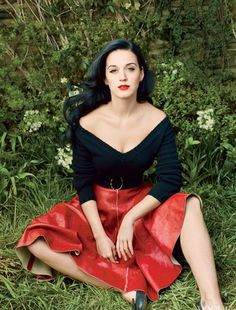 Annie Leibovitz captured Katy Perry for the July 2013 issue of the American Vogue on location on McKeon Farms in Red Hook, New York.