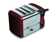 Rowlett Esprit 3 Slice Single Brunch Toaster in Claret - Toasters - Electronics