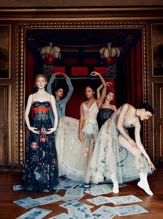 Amelia Rami, Anya Lyagoshina, Lulu Valentine, Megan Bull & Nyasha Matonhodze in Harper's Bazaar UK February 2017 by Erik Madigan Heck