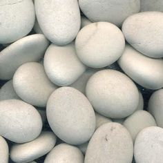 Pebbles so earthy White Pebbles, Rock And Pebbles, River Stones, Tumbled Stones, River Rocks, Something's Gotta Give House, Painted Rocks Craft, Outdoor Stone, Like A Rock