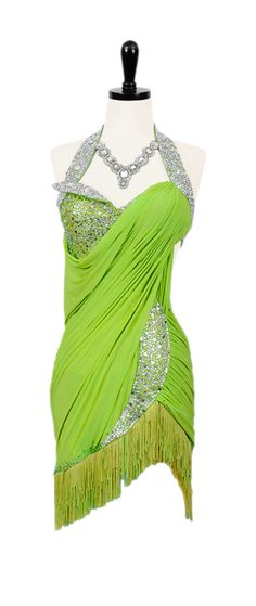 Pistachio Pizzazz | Rhythm & Latin Dresses | Encore Ballroom Couture