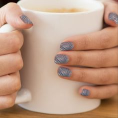 #Gray Silver Zebra Abstract Contemporary Look Minx Nail Art - #stylist #gifts #makeup