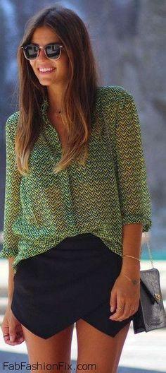 Fab summer look with Zara shorts