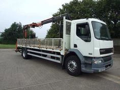 DAF TRUCKS LF 55.220 2006 06 plate Iveco 180e24 crane lorry. rearmounted PM10 crane.  Diesel - http://tractorsforsales.com/daf-trucks-lf-55-220-2006-06-plate-iveco-180e24-crane-lorry-rearmounted-pm10-crane-diesel/