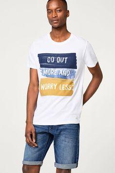 Esprit - Printed jersey top, 100% cotton Shirt Print Design, Tee Shirt Designs, Custom T Shirt Printing, Printed Shirts, Juniors Graphic Tees, Hang Ten, Geile T-shirts, Design Logo, Mens Tee Shirts