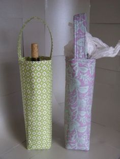 Craftsy Crafty Tutorials: Wine Bottle Gift Bag - I've made this bag several times and it's a great pattern.  It's very easy to use several different prints in one bag.